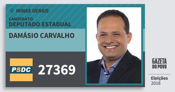 Santinho Damásio Carvalho 27369 (DC) Deputado Estadual | Minas Gerais | Eleições 2018