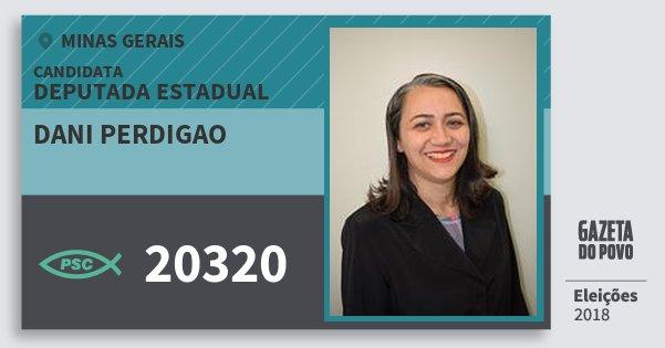 Santinho Dani Perdigao 20320 (PSC) Deputada Estadual | Minas Gerais | Eleições 2018