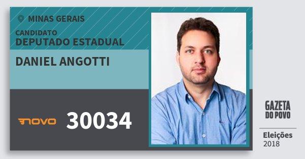 Santinho Daniel Angotti 30034 (NOVO) Deputado Estadual | Minas Gerais | Eleições 2018