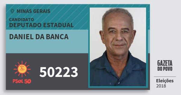 Santinho Daniel da Banca 50223 (PSOL) Deputado Estadual | Minas Gerais | Eleições 2018