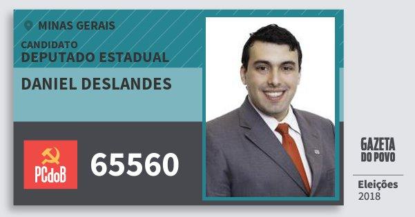 Santinho Daniel Deslandes 65560 (PC do B) Deputado Estadual | Minas Gerais | Eleições 2018