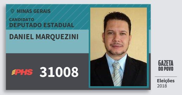 Santinho Daniel Marquezini 31008 (PHS) Deputado Estadual | Minas Gerais | Eleições 2018
