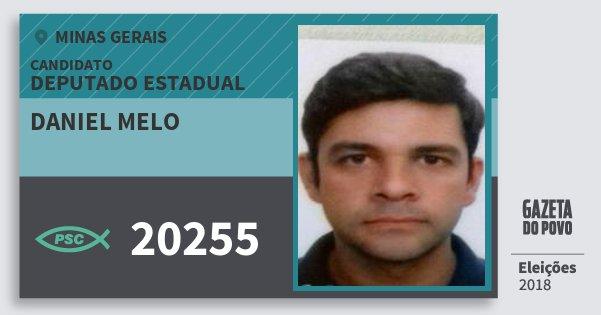 Santinho Daniel Melo 20255 (PSC) Deputado Estadual | Minas Gerais | Eleições 2018
