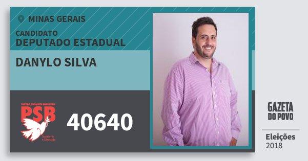 Santinho Danylo Silva 40640 (PSB) Deputado Estadual   Minas Gerais   Eleições 2018