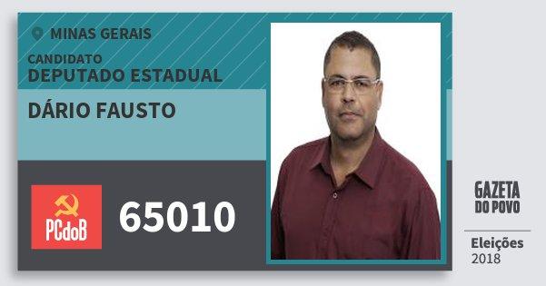 Santinho Dário Fausto 65010 (PC do B) Deputado Estadual | Minas Gerais | Eleições 2018