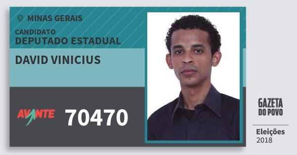 Santinho David Vinicius 70470 (AVANTE) Deputado Estadual | Minas Gerais | Eleições 2018