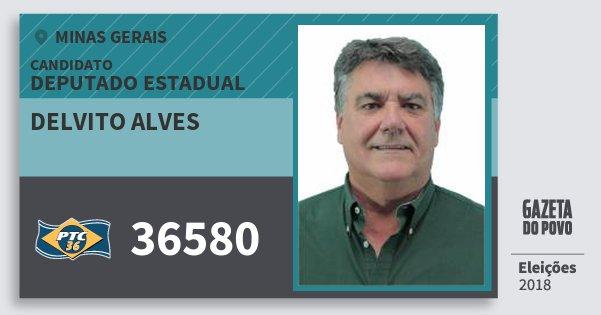 Santinho Delvito Alves 36580 (PTC) Deputado Estadual | Minas Gerais | Eleições 2018