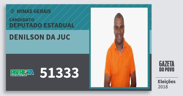 Santinho Denilson da Juc 51333 (PATRI) Deputado Estadual | Minas Gerais | Eleições 2018