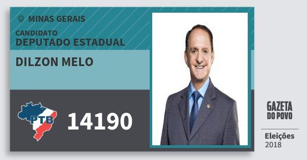 Santinho Dilzon Melo 14190 (PTB) Deputado Estadual | Minas Gerais | Eleições 2018