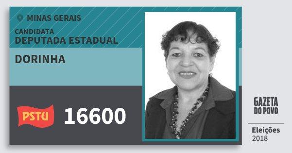Santinho Dorinha 16600 (PSTU) Deputada Estadual | Minas Gerais | Eleições 2018