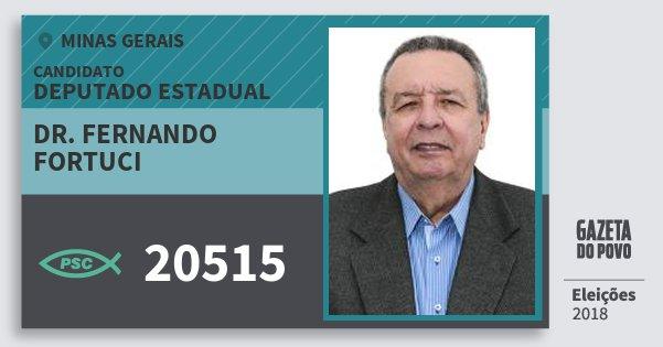 Santinho Dr. Fernando Fortuci 20515 (PSC) Deputado Estadual | Minas Gerais | Eleições 2018