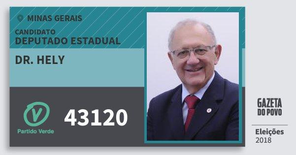 Santinho Dr. Hely 43120 (PV) Deputado Estadual | Minas Gerais | Eleições 2018
