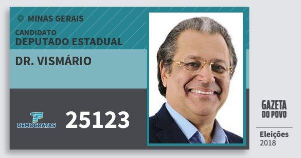 Santinho Dr. Vismário 25123 (DEM) Deputado Estadual | Minas Gerais | Eleições 2018