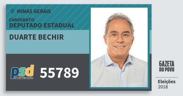 Santinho Duarte Bechir 55789 (PSD) Deputado Estadual | Minas Gerais | Eleições 2018