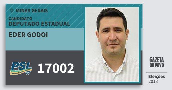 Santinho Eder Godoi 17002 (PSL) Deputado Estadual | Minas Gerais | Eleições 2018