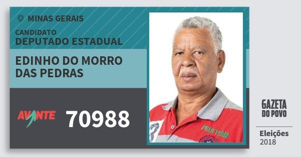 Santinho Edinho do Morro das Pedras 70988 (AVANTE) Deputado Estadual | Minas Gerais | Eleições 2018