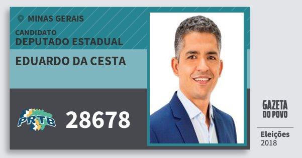 Santinho Eduardo da Cesta 28678 (PRTB) Deputado Estadual | Minas Gerais | Eleições 2018
