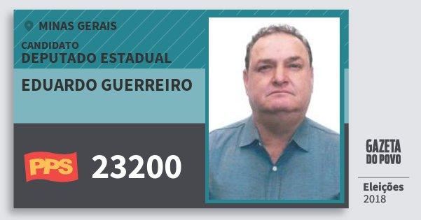 Santinho Eduardo Guerreiro 23200 (PPS) Deputado Estadual | Minas Gerais | Eleições 2018