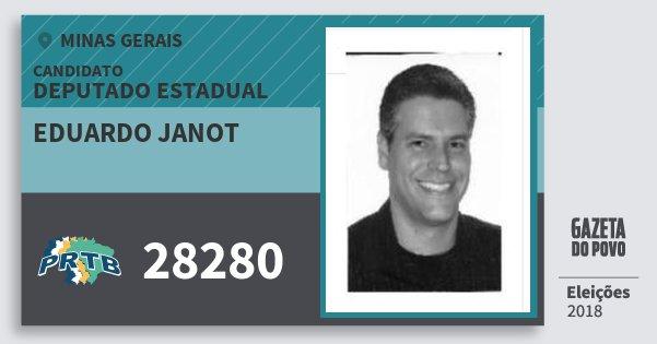 Santinho Eduardo Janot 28280 (PRTB) Deputado Estadual | Minas Gerais | Eleições 2018