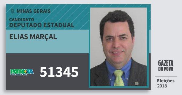 Santinho Elias Marçal 51345 (PATRI) Deputado Estadual | Minas Gerais | Eleições 2018