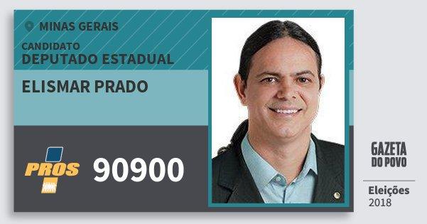 Santinho Elismar Prado 90900 (PROS) Deputado Estadual | Minas Gerais | Eleições 2018