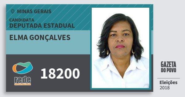 Santinho Elma Gonçalves 18200 (REDE) Deputada Estadual | Minas Gerais | Eleições 2018