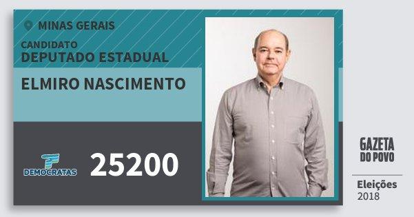 Santinho Elmiro Nascimento 25200 (DEM) Deputado Estadual | Minas Gerais | Eleições 2018