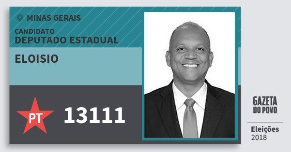 Santinho Eloisio 13111 (PT) Deputado Estadual | Minas Gerais | Eleições 2018