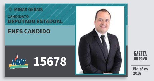 Santinho Enes Candido 15678 (MDB) Deputado Estadual | Minas Gerais | Eleições 2018