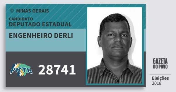 Santinho Engenheiro Derli 28741 (PRTB) Deputado Estadual | Minas Gerais | Eleições 2018