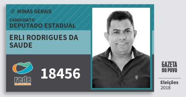 Santinho Erli Rodrigues da Saude 18456 (REDE) Deputado Estadual | Minas Gerais | Eleições 2018