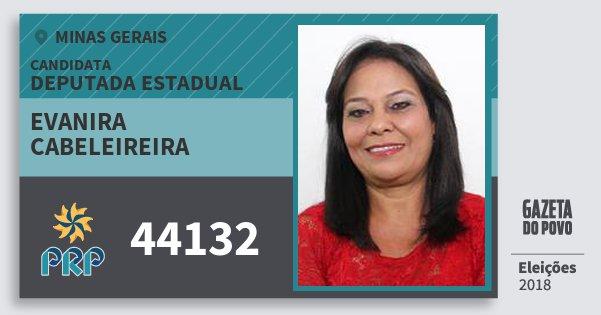 Santinho Evanira Cabeleireira 44132 (PRP) Deputada Estadual | Minas Gerais | Eleições 2018