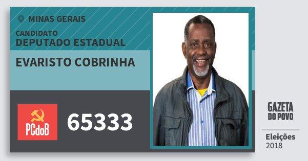 Santinho Evaristo Cobrinha 65333 (PC do B) Deputado Estadual | Minas Gerais | Eleições 2018