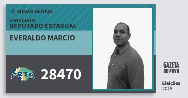 Santinho Everaldo Marcio 28470 (PRTB) Deputado Estadual | Minas Gerais | Eleições 2018