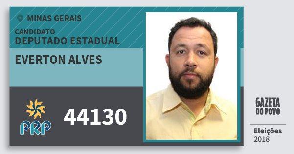 Santinho Everton Alves 44130 (PRP) Deputado Estadual | Minas Gerais | Eleições 2018