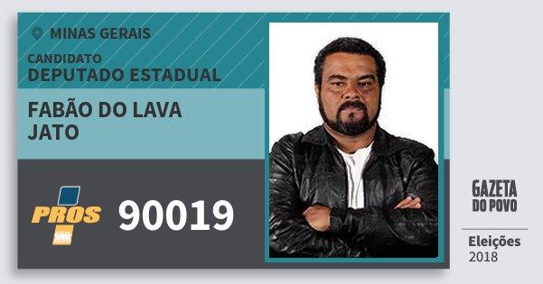 Santinho Fabão do Lava Jato 90019 (PROS) Deputado Estadual | Minas Gerais | Eleições 2018