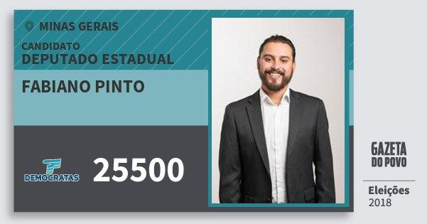 Santinho Fabiano Pinto 25500 (DEM) Deputado Estadual | Minas Gerais | Eleições 2018
