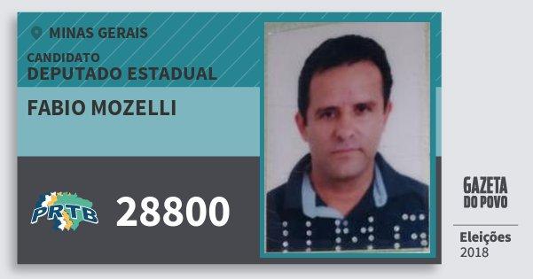 Santinho Fabio Mozelli 28800 (PRTB) Deputado Estadual | Minas Gerais | Eleições 2018