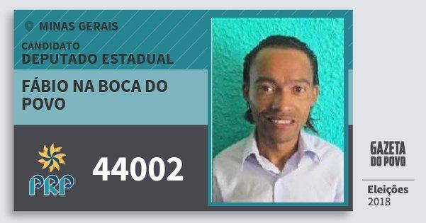 Santinho Fábio na Boca do Povo 44002 (PRP) Deputado Estadual | Minas Gerais | Eleições 2018