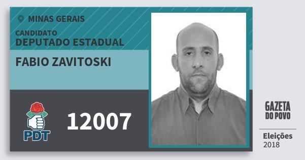 Santinho Fabio Zavitoski 12007 (PDT) Deputado Estadual | Minas Gerais | Eleições 2018