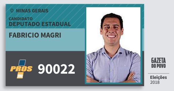 Santinho Fabricio Magri 90022 (PROS) Deputado Estadual | Minas Gerais | Eleições 2018