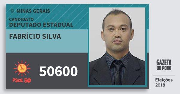 Santinho Fabrício Silva 50600 (PSOL) Deputado Estadual | Minas Gerais | Eleições 2018