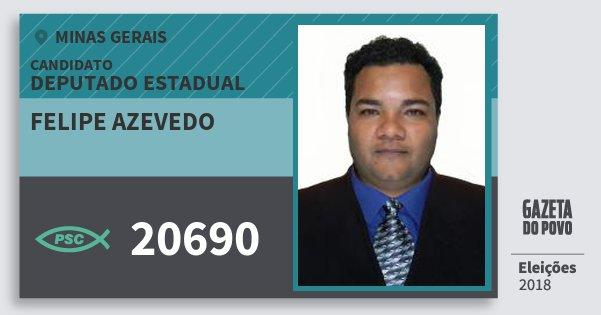 Santinho Felipe Azevedo 20690 (PSC) Deputado Estadual | Minas Gerais | Eleições 2018