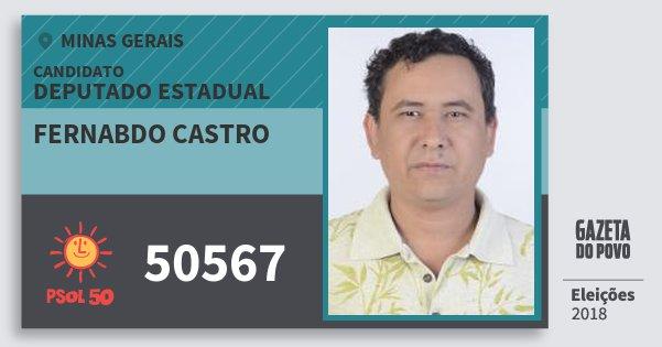 Santinho Fernabdo Castro 50567 (PSOL) Deputado Estadual | Minas Gerais | Eleições 2018