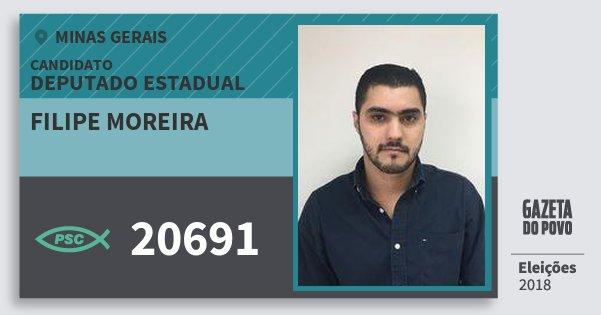 Santinho Filipe Moreira 20691 (PSC) Deputado Estadual | Minas Gerais | Eleições 2018