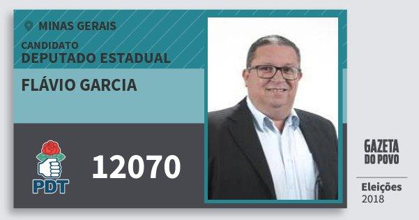 Santinho Flávio Garcia 12070 (PDT) Deputado Estadual | Minas Gerais | Eleições 2018