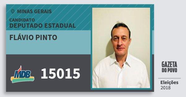 Santinho Flávio Pinto 15015 (MDB) Deputado Estadual | Minas Gerais | Eleições 2018