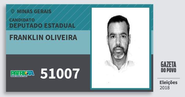 Santinho Franklin Oliveira 51007 (PATRI) Deputado Estadual | Minas Gerais | Eleições 2018