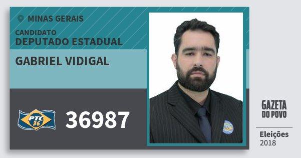 Santinho Gabriel Vidigal 36987 (PTC) Deputado Estadual | Minas Gerais | Eleições 2018