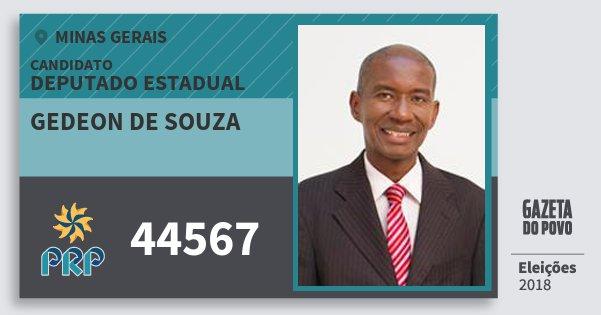 Santinho Gedeon de Souza 44567 (PRP) Deputado Estadual | Minas Gerais | Eleições 2018